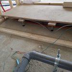 乾式二重床と新設間仕切壁